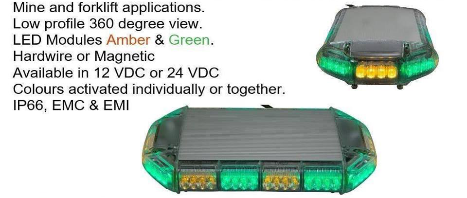 Led amber and green light,hardwire,Magnetic