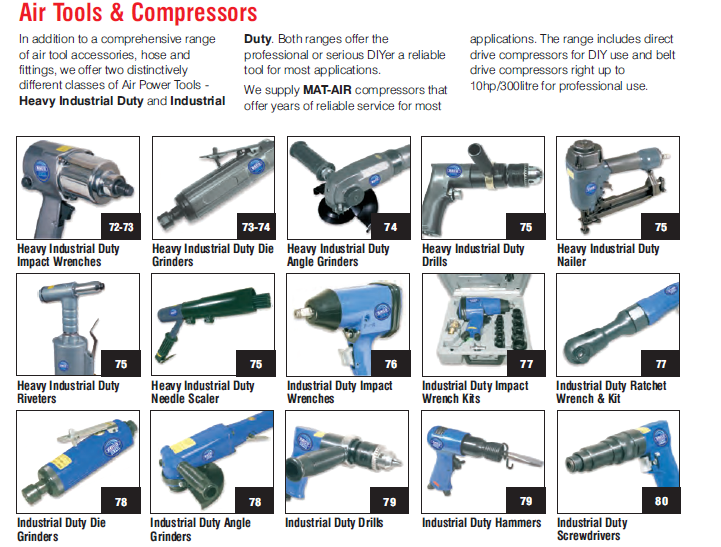 Heavy Industrial Duty Wrenches,Grinders,Drills,Nailers,Riverters